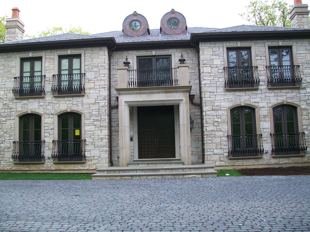 Foyer Entry Example : Limestone front entryways