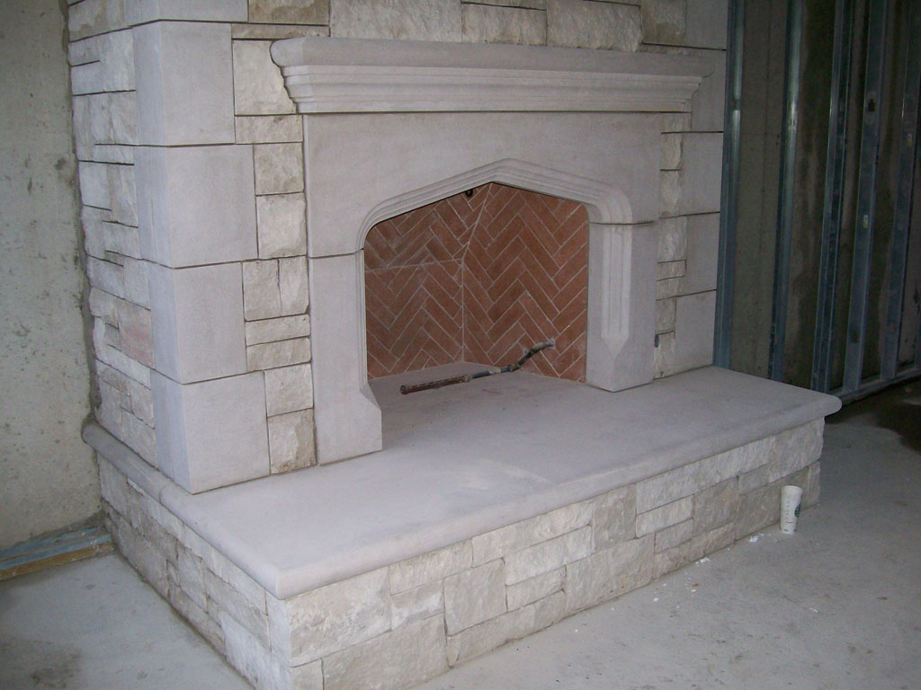 limestone fireplaces and mantels by architectural limestone inc